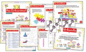 schatzsuche kindergeburtstag mit zirkus thema