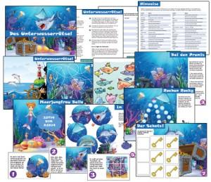 kindergeburtstag schatzsuche mit unterwasser thema