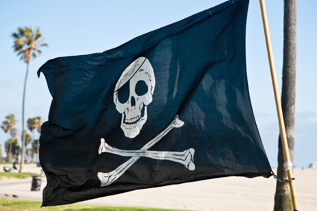 schatzsuche piraten mit richtiger flagge