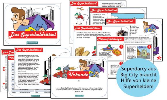 Bevorzugt Das Superheldrätsel - eine coole Schatzsuche zum Kindergeburtstag SB39